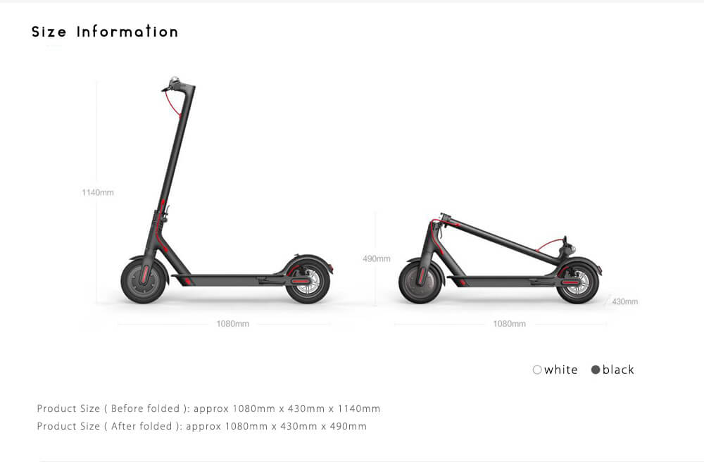 1 e-scooter size matters